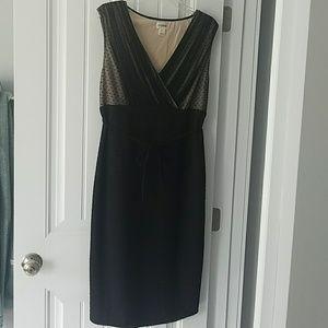 Motherhood maternity, black cocktail dress sheer